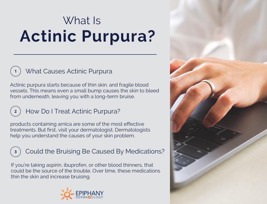 what is actinic purpura