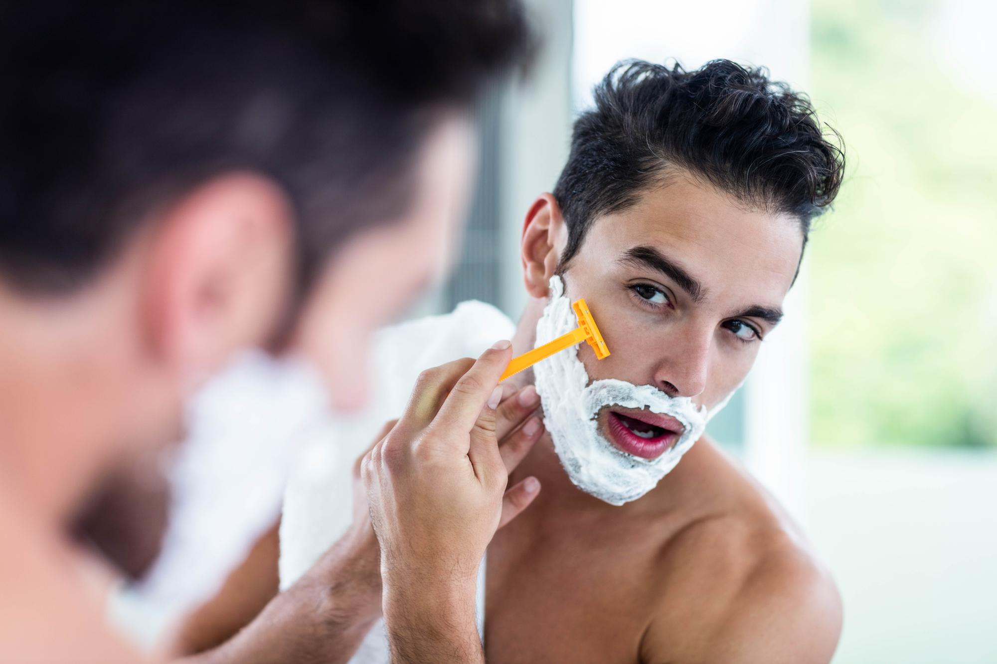 Image result for men shave